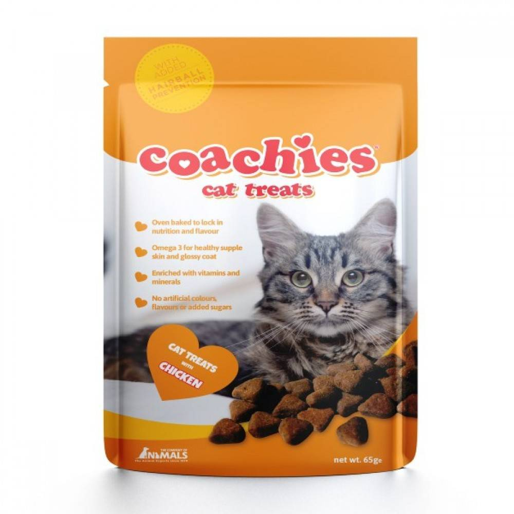 Coachies Coachies cat treats chicken hairball prefention (65g) TCCC