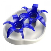 Interactive bowl flower wit/blauw