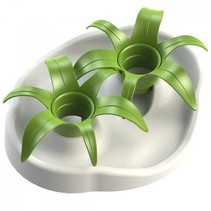 Interactive bowl flower wit/groen