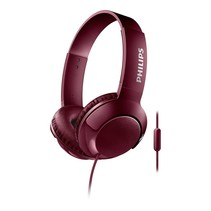 On-ear koptelefoon - bordeaux rood