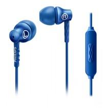 Oortelefoon met microfoon blauw