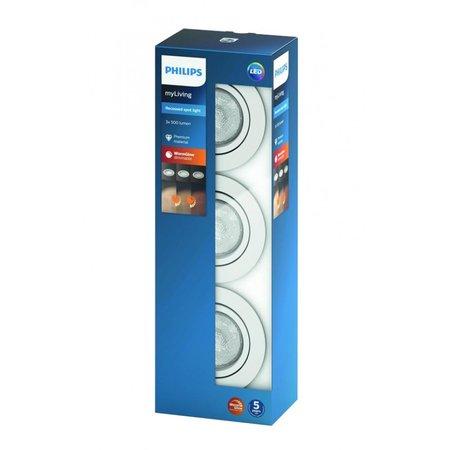 Philips Shellbark 3 inbouwspots - wt 5020331P0