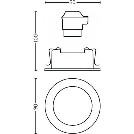 Philips Shellbark 3 inbouwspots -mat chroom 5020317P0