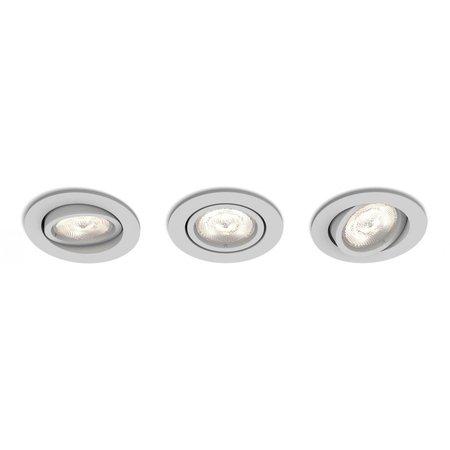 Philips Casement inbouwspots - 3 Lichtpunten mat RVS 5011387P0