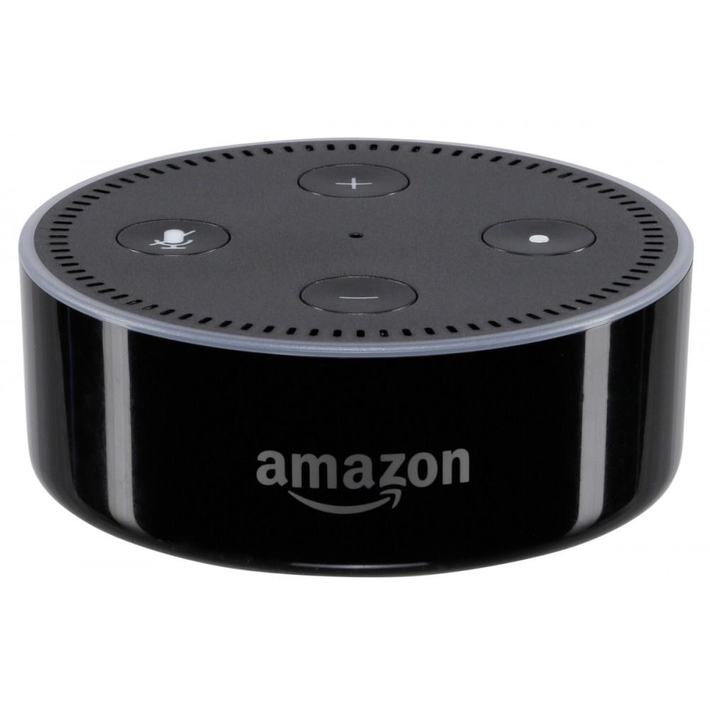 Afbeelding van Amazon Echo Dot 2 zwart Smart Assistant draagbare luidspreker B01DFKBG54