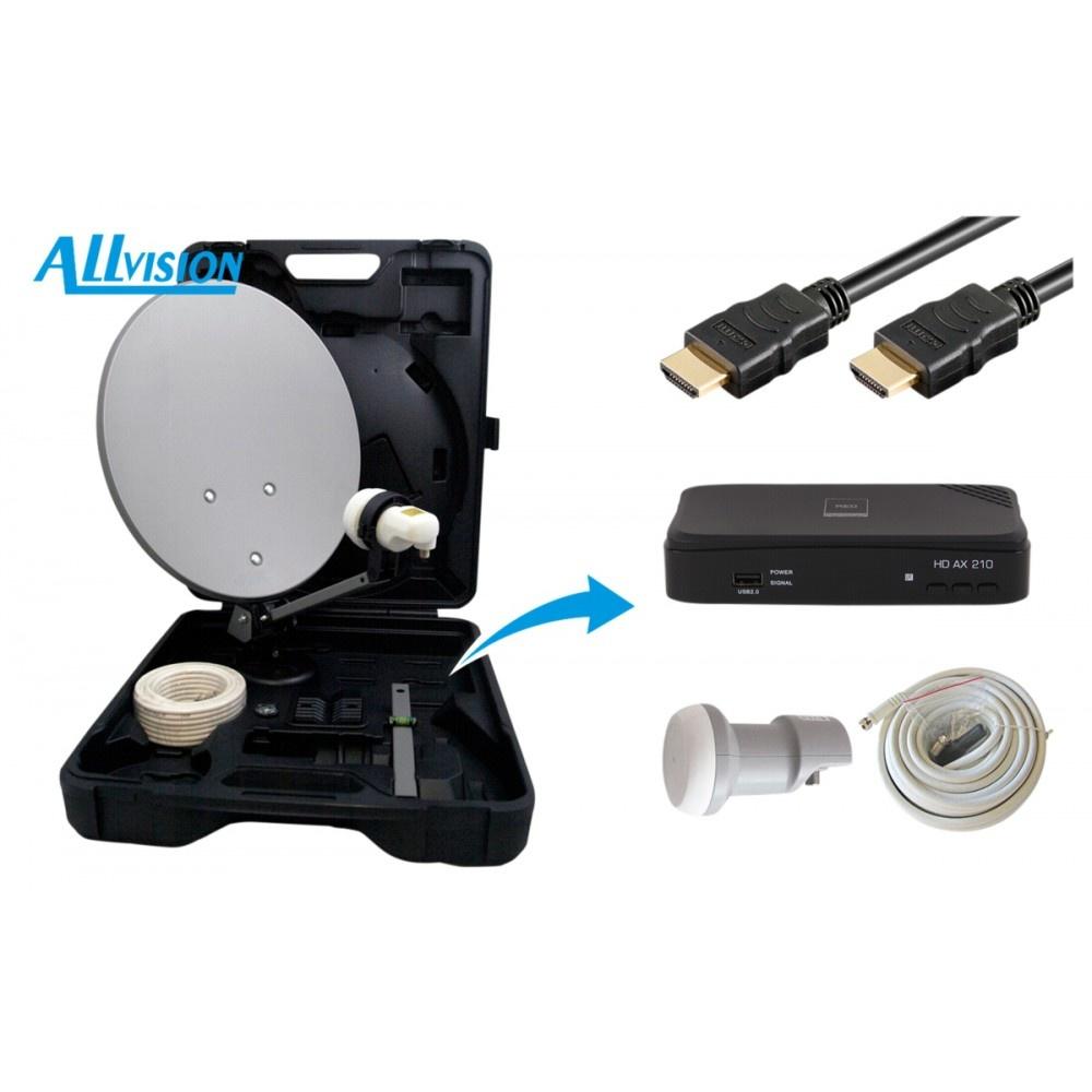 Allvision HD-Mobil campingkoffer satellietset met receiver 9101550