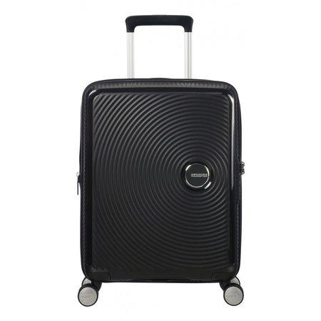 American Tourister Soundbox Expandable Spinner 55cm Bass zwart