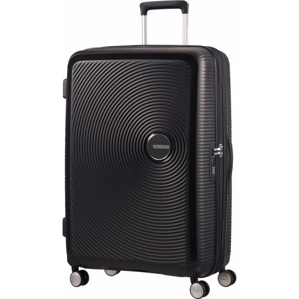 American Tourister Soundbox Expandable Spinner 77cm Bass zwart