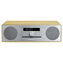 DAR-070 DAB+ radio/CD eiken/zilver