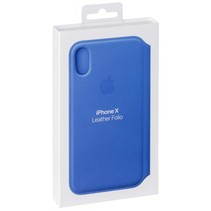 iPhone X lederen Folio Electric Blue