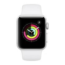 Watch Series 3 GPS 38mm zilver alu witte sportband