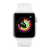 Watch Series 3 GPS 42mm zilver alu witte sportband