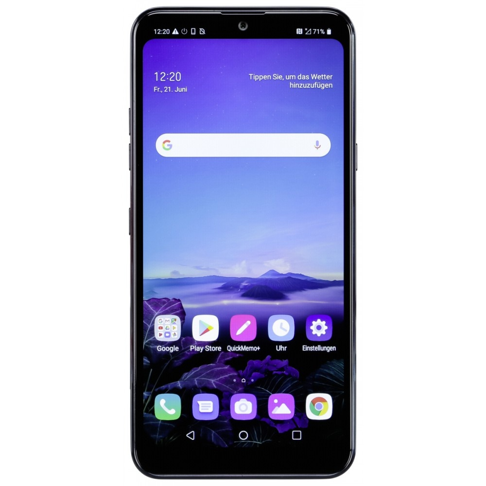 LG Q60 aurora black smartphone