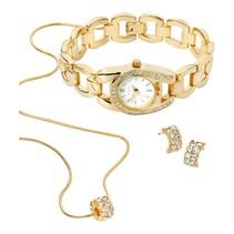 geschenkdoos met horloge, oorbellen en collier