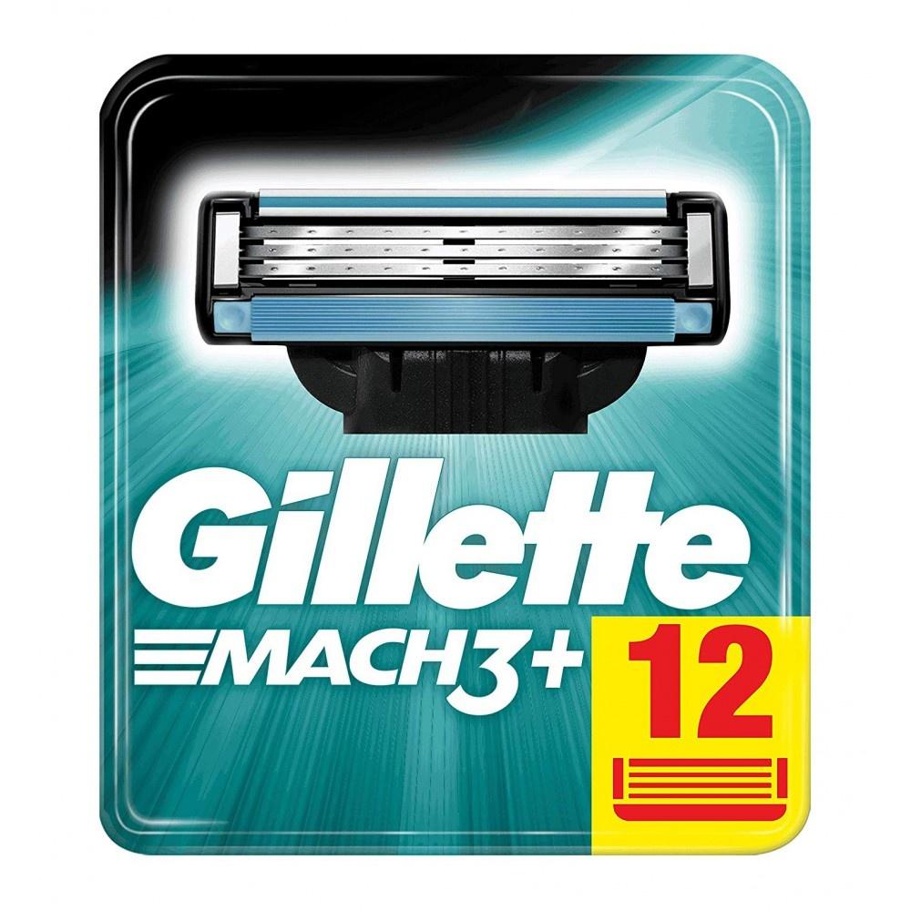 Gillette Mach3+ Scheermesjes 12 Stuks