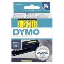 D1 Tape casette 9 mm x 7 m zwart op geel              40918