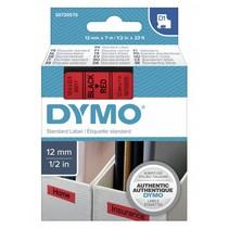 D1 Tape Cassette 12 mm x 7m zwart op rood              45017