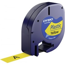 Letratag Band Plastic geel 12 mm x 4 m           91222