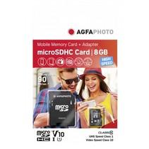 MicroSDHC UHS-I    8GB High Speed Class 10 U1 + Adapter