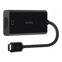 USB-C op HDMI-adapter 15cm, zwart         F2CU038btBLK