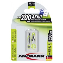 1  maxe Accu NiMH 9V-Block 200 mAh duits