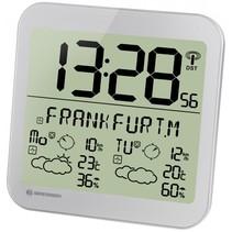 MyTime Meteotime LCD weerstation-wandklok zilver