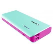 Powerbank PT100 Blue/Pink 10000 mAh met Flashlight