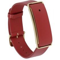 Color Band A1 lederen armband rood