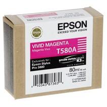 Inktpatroon   vivid magenta T 580 80 ml       T 580A