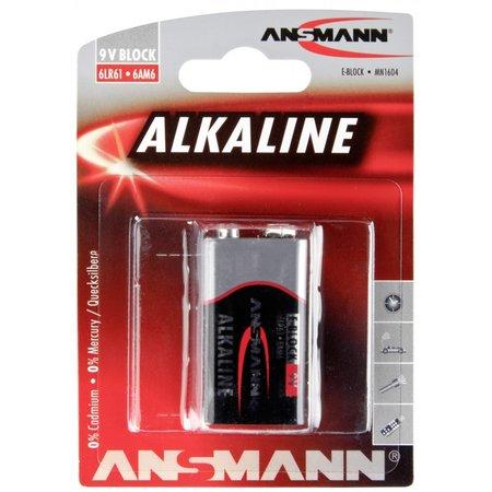 Ansmann 1  Alkaline 9V-Block red-line