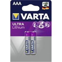 1x2  Ultra Lithium Micro AAA LR 03