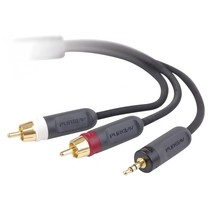 Y-Splitter kabel 2,0 m 3,5 mm  Cinch/2 Cinch