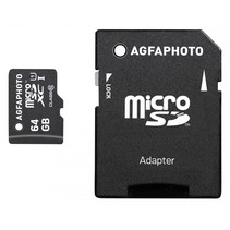 MicroSDXC UHS-I   64GB High Speed Class 10 U1 + adapter