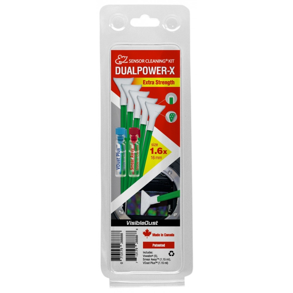 Visible Dust DUALPOWER-X 1.6x Extra Strength MXD100 Green Swab