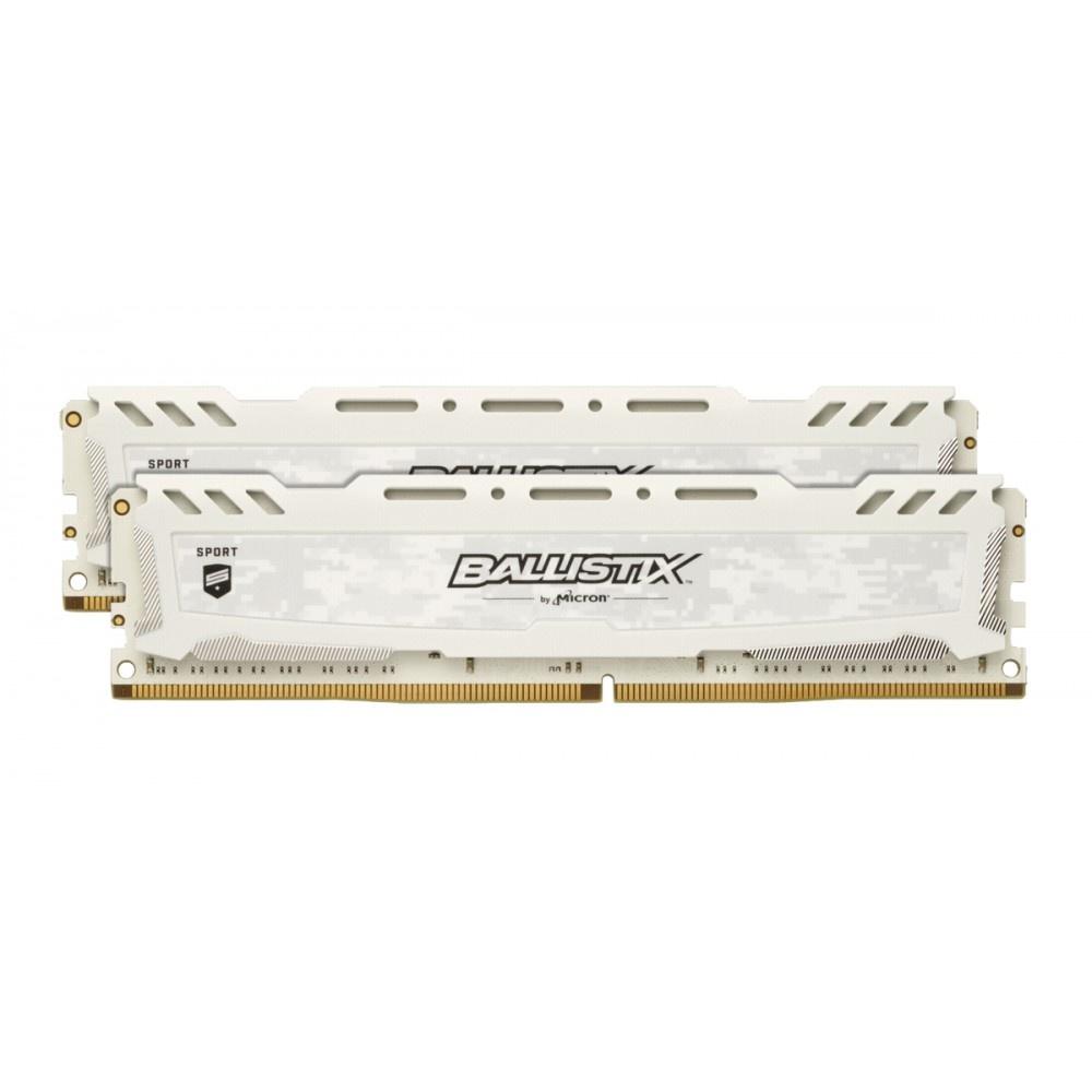 Afbeelding van Ballistix Sport LT 8GB Kit DDR4 4GBx2 2666 DIMM 288pin wit