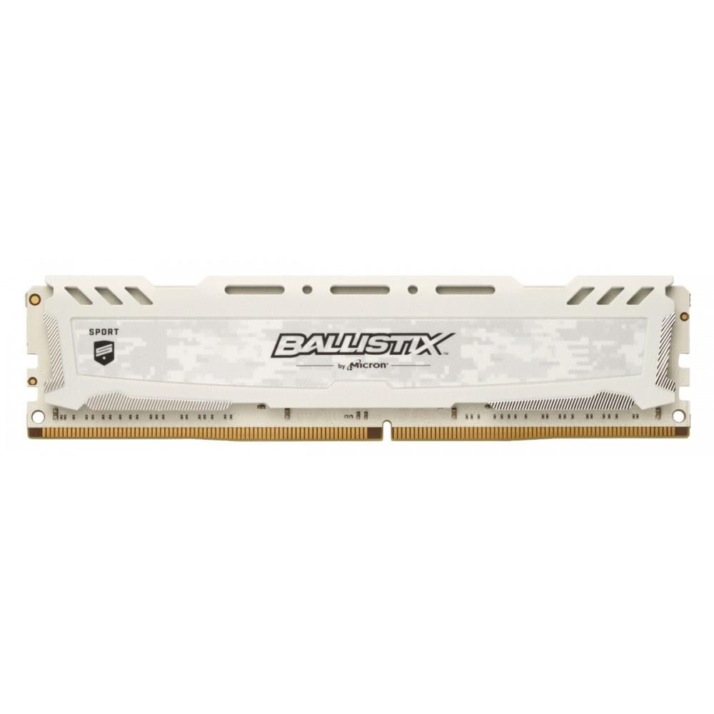 Afbeelding van Ballistix Sport LT 8GB DDR4 3200 DIMM 288pin wit SR CL16