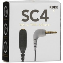 SC4 adapter 3,5mm TRS aan TRRS voor smartLav