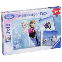 Avontuur  in winterland 3 X 49 stukjes puzzel