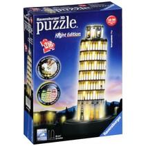 3D puzzelmonument Toren van Pisa bij nacht