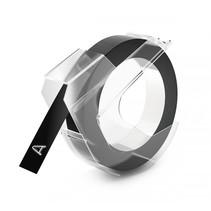 3D labeltape 9 mm x 3 m plastik glanzend zwart
