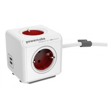 PowerCube Extended USB incl. 1,5 m kabel rood Type F