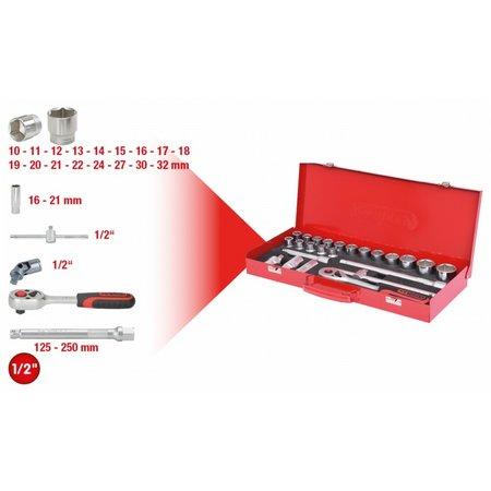 KS Tools 1/2  Steckschl.-Satz 24-tlg. 6-kant