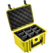 B&W Outdoor Case 2000 geel met compartimenten