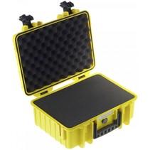 B&W Outdoor Case Type 4000 geel met schuiminleg