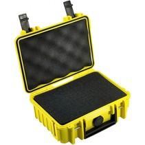 B&W Outdoor Case Type 500 geel met schuiminleg