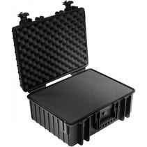 B&W Outdoor Case Type 6000 zwart met schuiminleg