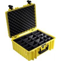 B&W Outdoor Case Type 6000 geel met compartimenten