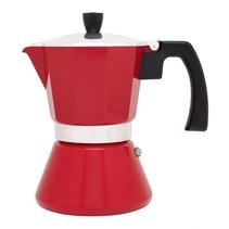 Espressomaker 6 kopjes/rood/inductie  LV113007