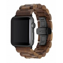 EcoStrap Apple Watch Band 42mm, walnoot zwart