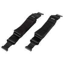 QARDIO Strap XL 2-dlg set zwart voor  Core